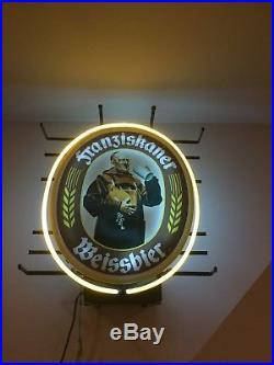 100% Working And Original Vintage Franziskaner Weissbier Neon Beer Sign Mancave