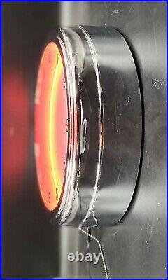 16 Gulf Gas Oil Vintage Logo Sign Orange Neon Clock Man Cave Bar Garage