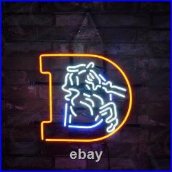 17x14 D Horse Sports Team Vintage Porcelain Room Neon Sign Light Decor