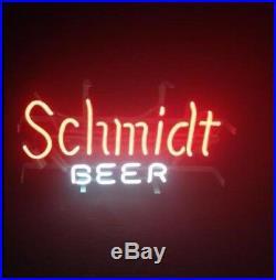 17x14 Vintage Schmidt Beer NEON LIGHT SIGN BEER BAR PUB DECOR