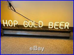 1930's Vintage Art Deco Neon Beer Sign Hop Gold Star Vancouver WA Interchangeabl