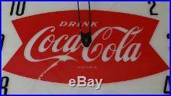 1950s 60s Vtg Coke Coca Cola Soda Pop Lighted Clock Sign Neon Products NPI