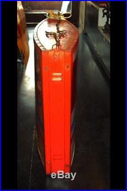 1950s ESSO TIGER PETROL OIL GAS VINTAGE GARAGE LIGHT UP BOX SIGN NT ENAMEL NEON