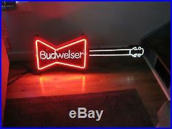 1986 Vintage Budweiser Neon Guitar Light Sign