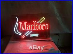 1997 Vintage Marlboro Cigarettes Neon Lighted Sign Tobacco Advertising Light