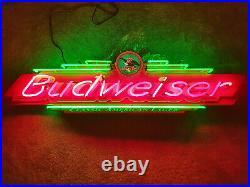 1998 Vintage Fallon 58 Budweiser Classic Beer Neon Sign Anheuser Busch RARE