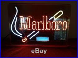 1998 Vintage Marlboro Cigarettes Neon Lighted Sign Tobacco Advertising Light