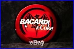 26 Inch Bacardi And Coke Vintage Neon Bar Sign, BACARDI & COKE Working Sign
