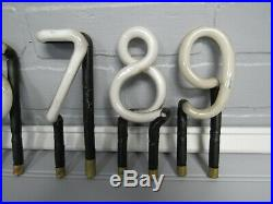 61-Vintage 1930's Neon Sign Letters Numbers Symbols Push In 4 Tall