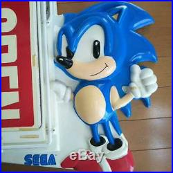90's Sega Sonic Neon signs Coming soon Open US Vintage Collector Item game rare