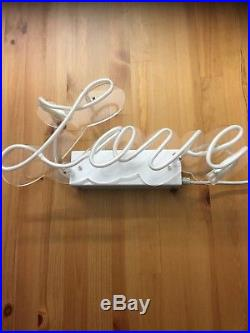 Art Neon Glass Light Sign Vintage LOVE Lamp Lighting Valentines Gift Pub Decor