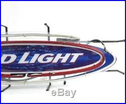 BUD Light NEON LIGHT BAR SIGN Rare Beer Logo Symbol Pub Real Neon Power VTG