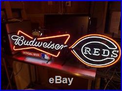 Budweiser Cincinnati Reds Neon Sign Rare Vintage Collectable