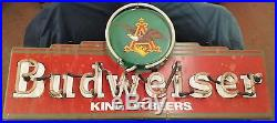 Budweiser King Of Beers Anheuser Busch Neon Light Sign 1995 Vintage 30 X 14 X 5