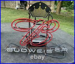 Budweiser Vintage Neon Bar Sign For Repair