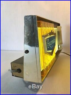 Burgermeister Lighted Beer Display Light Box Sign Barback Man Cave Decor Vintage