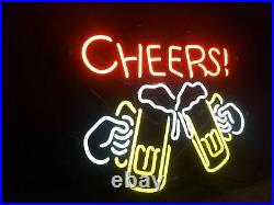 CHEERS Vintage Porcelain Store Wall Gift Custom Beer Decor Neon Sign Boutique