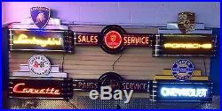 Corvette Neon Sign! Metal Vintage Sales And Service Dealership Sign