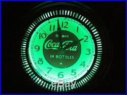 Coca Cola Coke Neon Motion Spinner Clock Sign Chicago Neon Sales Vintage 14
