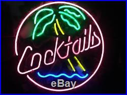 Cocktail Coconut Tree Wall Custom Store Neon Sign Porcelain Gift Beer Vintage