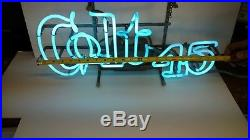 Colt 45 Neon Beer Sign Working Vintage