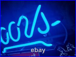 Coors Neon Lighted Sign The Banquet Beer 14x11 bar rare vintage original mancave