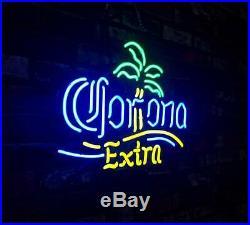 Corona Palm Tree Extra Neon Sign Vintage Hand Craft Decor Light Custom Lamp Gift