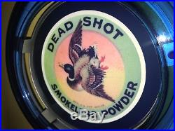 ^^^Dead Shot Duck Hunting Shotgun Ammo Man Cave Advertising Blue Neon Wall Sign