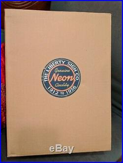 Elvis Presley Neon Clock Sign VINTAGE Old Stock w Original Box WORKS