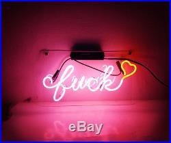 FVCK Heart Neon Sign Custom Boutique Porcelain Beer Vintage Artwork Pub Decor