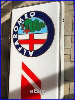 Genuine SERVIZIO ALFA ROMEO Neon Lighted Sign Service Dealer Vintage Garage Auto