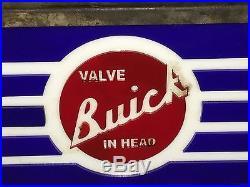 Gm Buick Motor Car Dealership Garage Vintage Light Box Sign Nt Porcelain Neon