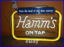 Hamm's On Tap Vintage Neon Beer Sign 25 x 17