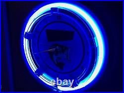 ^Heddon Fishing Lures Bait Shop Store Advertising Man Cave Neon Clock Sign