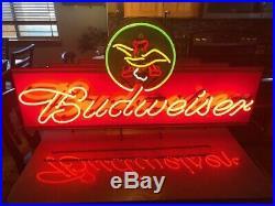 Huge Vintage Budweiser Neon Sign 48 x 25
