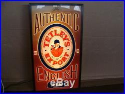 Insegna Birra Tetleys Export English Vintage Sign Tetley's Neon