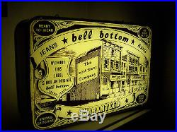 Insegna Luminosa Originale Jeans Bell Bottom Sign Neon Vintage