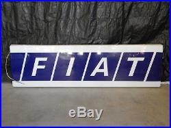 Insegna Luminosa Vintage Neon Fiat Old Sign Garage 131 X1/9 Uno Turbo Abarth Etc