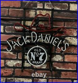 Jack Daniel's Neon Sign Light Vintage Bar Decor Wall Pub Handmade Artwork