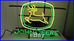 John Deere Vintage Neon Sign Light Beer Bar Pub Sign Wall Decor Neon Light
