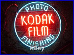 KODAK FILM ADVERTISING NEON LIGHTED SIGN vintage