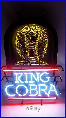 King Cobra Budweiser Malt Liquor Snake Vintage Neon Beer