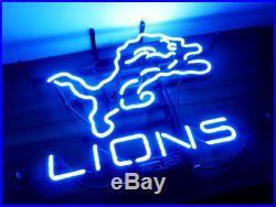 LIONS Detroit Decor Boutique Vintage Store Beer Custom Gift Neon Sign Pub