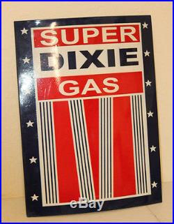 Large 24'' Embossed Dixie Oil Vintage Style Metal Signs Man Cave Decor Gas Dad