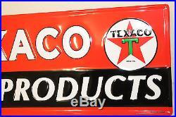 """Large 42"""" Embossed Texaco Marine Oil Vintage Style Signs Man"""