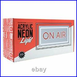 Locomocean Neon ON AIR Sign in Glossy Acrylic Box Red and White