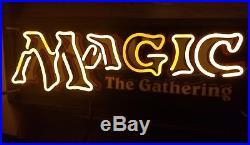 MAGIC THE GATHERING MTG NEON SIGN RETAILER EXCLUSIVE vintage