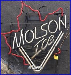 MOLSON BEER BAR CLUB LAMP NEON LIGHT SIGN 31 x 27 Vintage