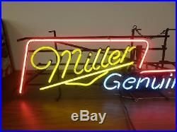 Miller Genuine Draft Neon Sign Light Guitar Vintage Rare