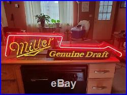 Miller Genuine Draft Vintage Guitar Neon Sign Circa 1990 Excellent Condition